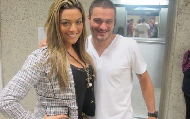 Monique e Rafa, ex-BBB (Foto: André Casado / Globoesporte.com)