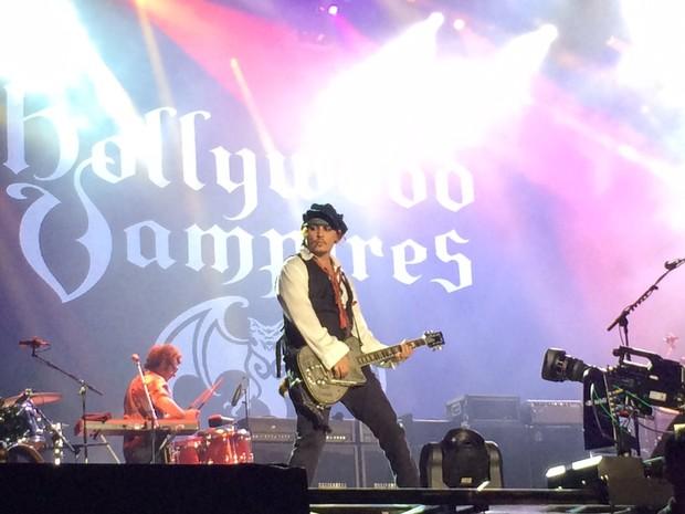 Johnny Depp de Jack Sparrow no Palco Mundo (Foto: Patrcia Laureano)