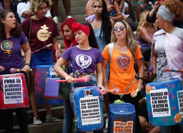 Protesto em São Paulo (Foto: Marcos Alves/ Agência O Globo)