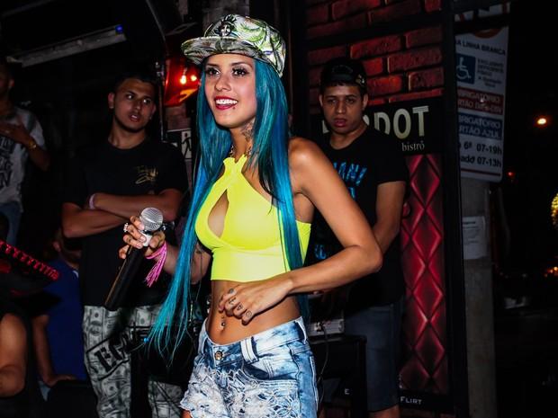 Tati Zaqui em show em São Paulo (Foto: Manuela Scarpa/ Foto Rio News)
