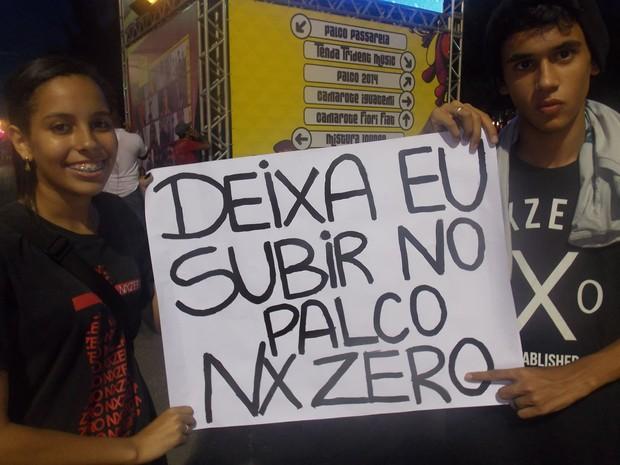 Fã do NX Zero (Foto: Maiana Belo/G1)