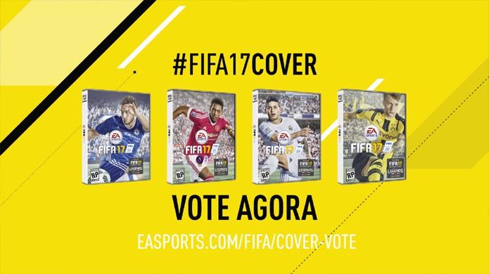 Votação de Fifa 17 irá escolher qual dos quatro atletas irá estampar a capa do jogo (Foto: Reprodução/YouTube)