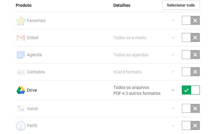 Selecione somente o Google Drive (Foto: Reprodução/Paulo Alves)