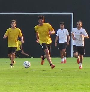 Rodrigão atuou pela Briosa no jogo treino com o Santos (Foto: Antonio Marcos)