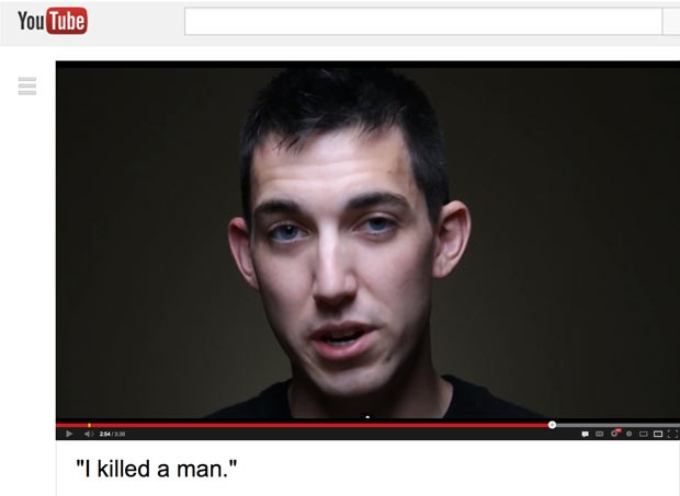 Matthew Cordle em imagem de seu vídeo-confissão (Foto: AP)
