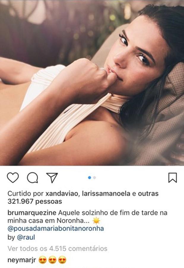 Comentário de Neymar no Instagram de Bruna Marquezine (Foto: Reprodução/Instagram)