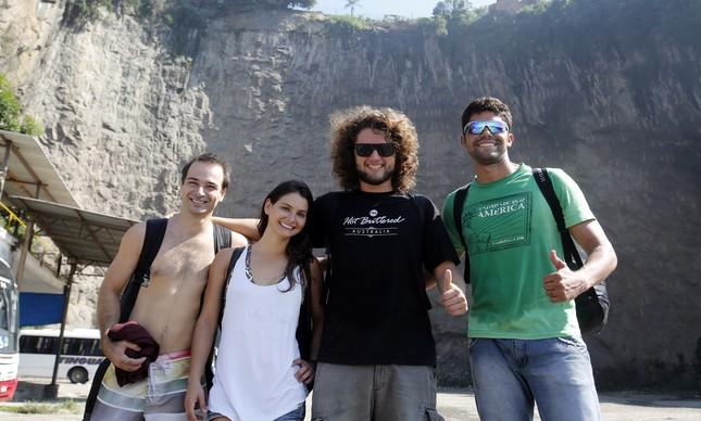 Rodrigo Almeida, Julia Botelho, Gustavo Areias e Rudnei Pereira