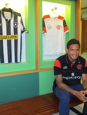 Carlos Eduardo, do Flamengo, no Globo Esporte 7 (Foto: Júlia Pecci/ Globoesporte.com)
