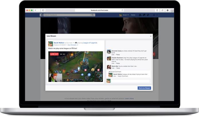 Agora, além de uma Página, também é possível transmitir gameplay diretamente no seu perfil pessoal (Foto: Divulgação/Facebook)