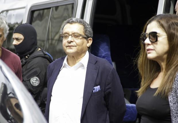 Monica e João Santana, presos em fevereiro por ordem do juiz Sérgio Moro (Foto: Guilherme Artigas / Fotoarena / Ag. O Globo)