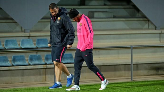 Neymar treino Barcelona (Foto: Reprodução / Site Oficial)