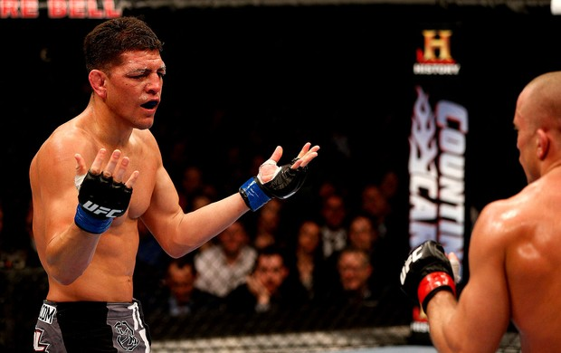 UFC 158 Georges St. Pierre Nick Diaz (Foto: Agência Getty Images)