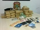 Uma pessoa é presa e 33 kg de drogas são apreendidos no litoral do PI
