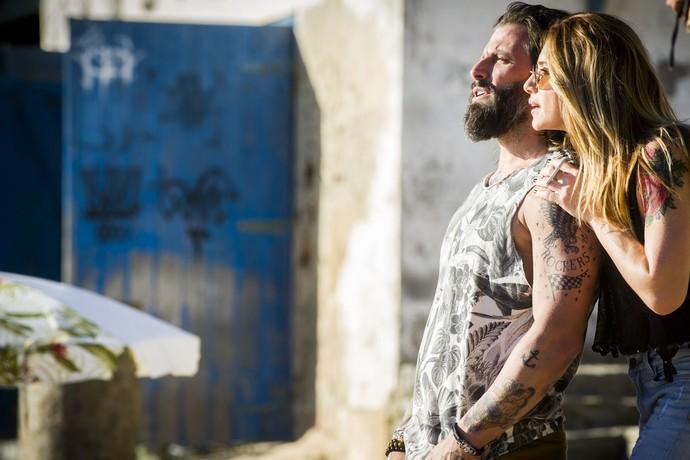 Henri Castelli e Letícia Spiller vivem os irmãos Ralf e Lenita em 'Sol Nascente' (Foto: João Miguel Júnior/Gshow)