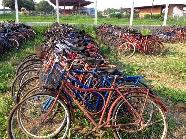Até 800 bicicletas devem ser vendidas a preços módicos em Cáceres (Foto: André Gustavo Correia/Creas-Cáceres)