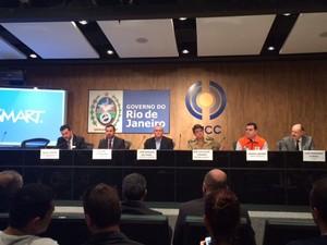 Autoridades na área de segurança pública detalharam o esquema de segurança das Olimpíadas de 2016.. (Foto: Alba Valéria Mendonça/ G1)