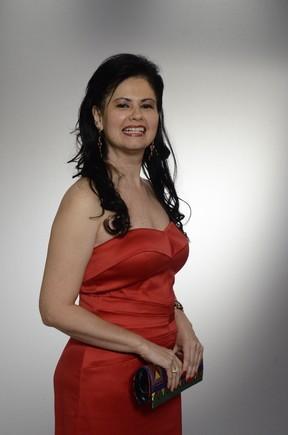 Narjara Turetta no lançamento da novela Salve Jorge, em 2012 (Foto: Rede Globo / Raphael Dias)