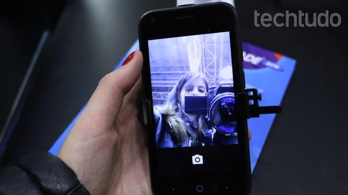 Câmera do Blade A110, da ZTE (Foto: Luciana Maline/TechTudo)