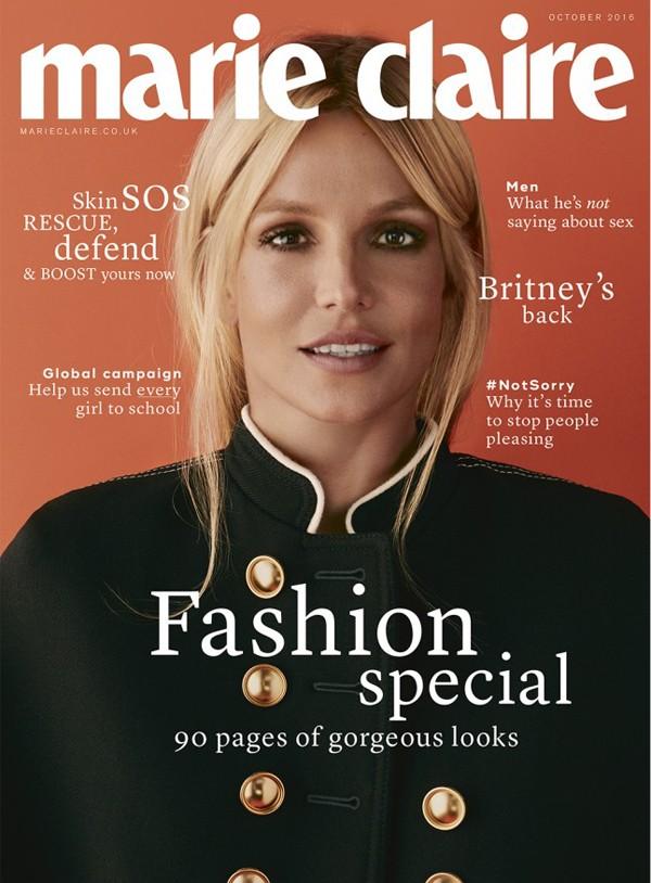 Britney Spears (Foto: Reprodução / David Roemer / Marie Claire UK)