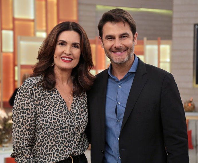 Fátima com o Dr. Fernando Gomes Pinto  (Foto: Isabella Pinheiro/Gshow)