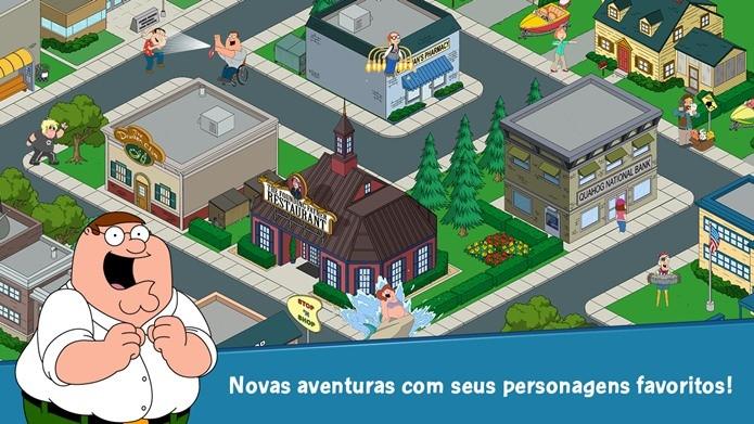 Jogo de Family Guy para Android contém todos os personagens do desenho animado (Foto: Divulgação)
