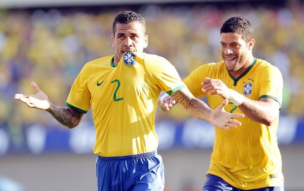 Daniel Alves Amistoso Brasil e Panamá Serra Dourada (Foto: Wander Roberto/VIPCOMM)
