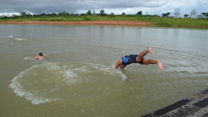 Primeira etapa Rondoniense de Aquathlon em Ji-Paraná (Foto: Pâmela Fernandes)