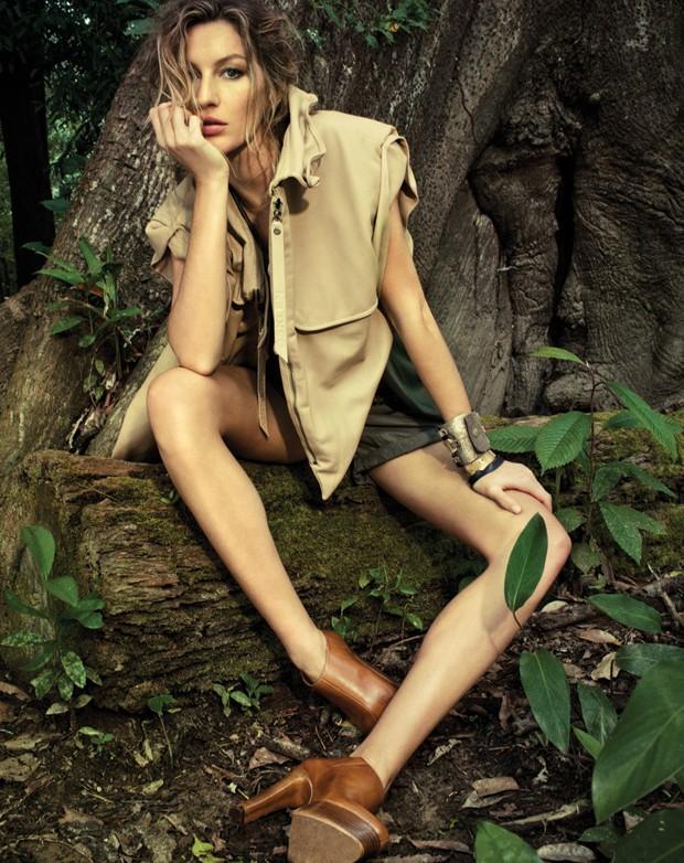 SHOPS AMAZONIA GISELE (Foto: Jacques Dequeker (arquivo Vogue) e Eduardo Svezia (stills))