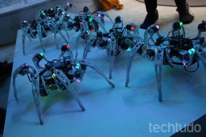 aranha robô (Foto: Fabrício Vitorino/TechTudo)
