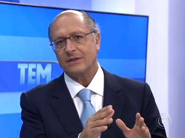 O governador detakhou os desafios que enfrentará no segundo mandato (Foto: Reprodução/TV Tem)