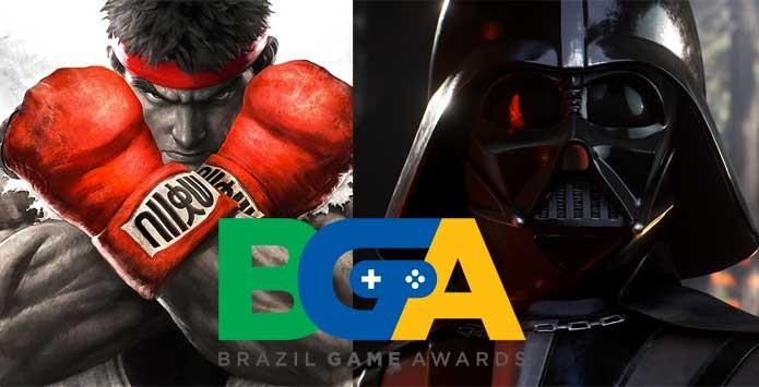 Street Fighter 5 e Star Wars foram destaque no Brazil Game Awards (Foto: Reprodução/Felipe Vinha)