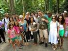 Cerimônia ambiental reúne Bruno Garcia e Christiane Torloni, no AM