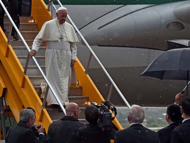 Papa Francisco chega nesta sexta-feira (10) no Paraguai (Foto: AFP PHOTO/PABLO PORCIUNCULA)
