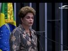 Dilma aponta 'golpe' e diz que 'só o povo' afasta pelo conjunto da obra