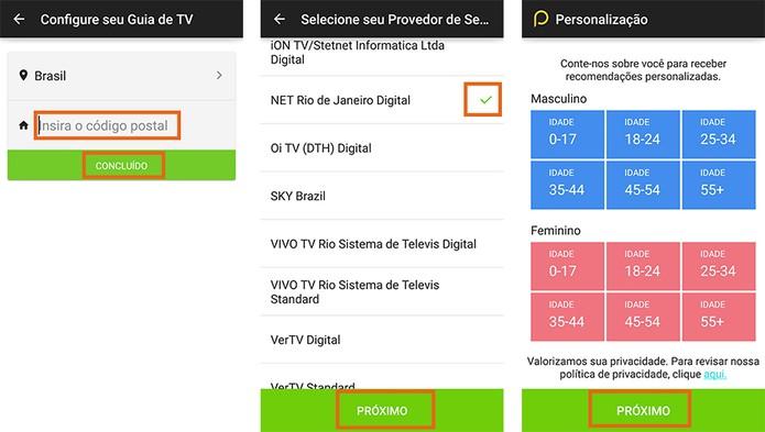 Inicie a configuração do controle da TV com o app Peel Smart Control (Foto: Reprodução/Barbara Mannara)