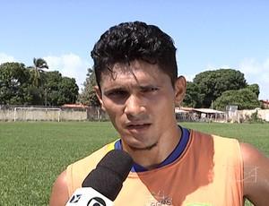 Wescley volta para São José-MA para jogar Copa União (Foto: Reprodução/TV Mirante)