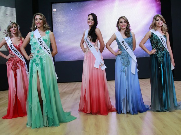 As cinco finalistas do Concurso Miss Tocantins (Foto: Manuel Espitia/Miss Tocantins)