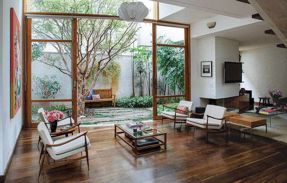 globo iluminacao jardim:Sala e jardim – Casa e Jardim
