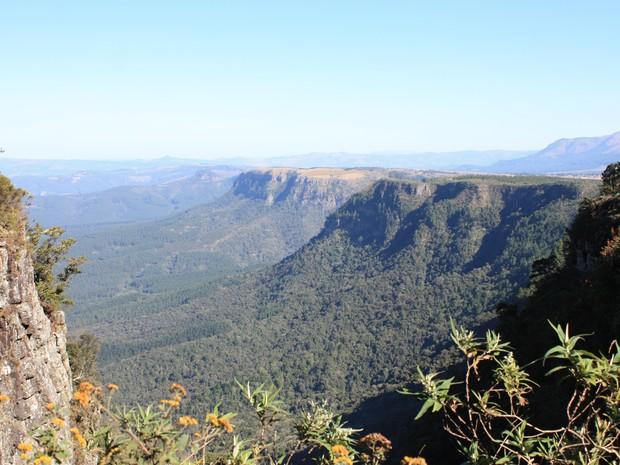 O God's Window fica na região de Mpumalanga, África do Sul.  (Foto: Patrícia de Souza Laura/VC no G1)