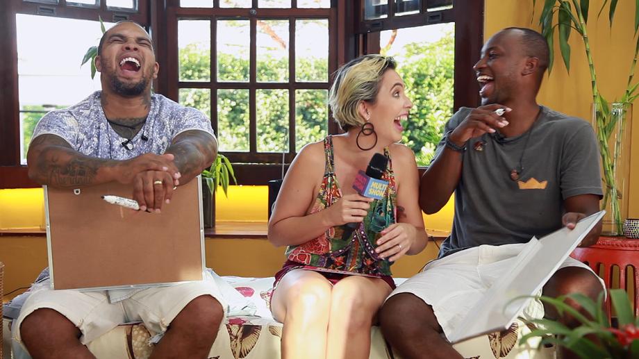 Thiaguinho e Rodriguinho testam amizade: quem ser que conhece mais o outro?  (Foto: Multishow)