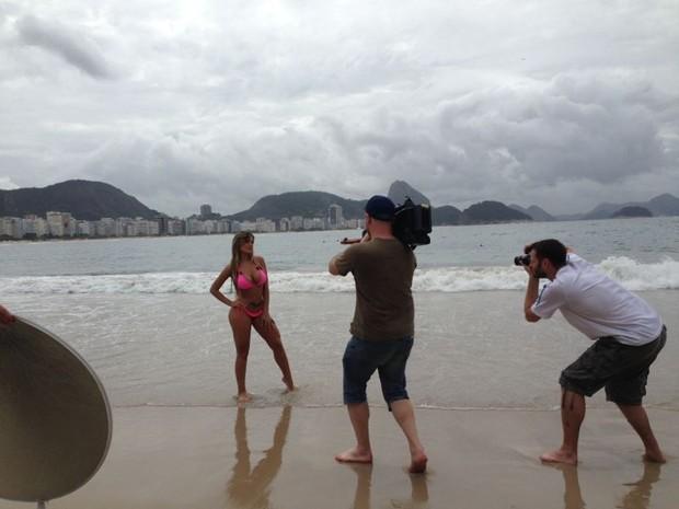 Andressa Urach grava imagens de série Alemã (Foto: Divulgação / CO Assesoria)