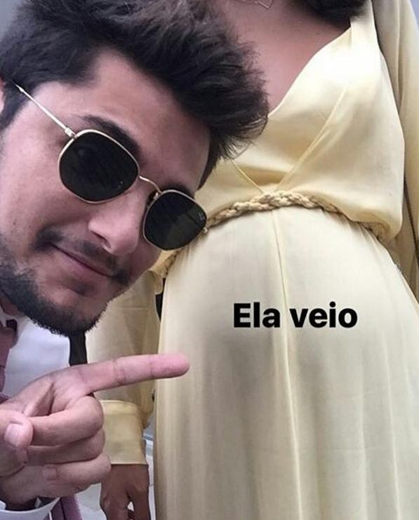 Bruno Gissoni mostra barrigão de Yanna Lavigne em festa de casamento (Foto: Reprodução/Instagram)