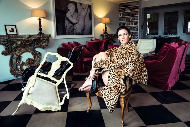 Marie usa casaco vintage Carlo Tivioli (Foto: Antonio Monfreda)