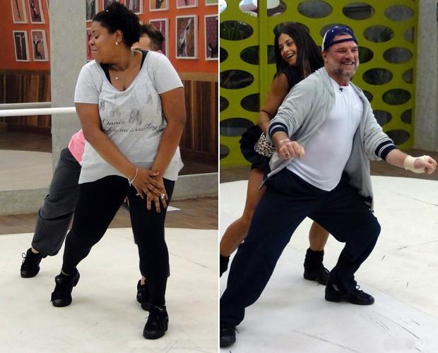 Cacau e Garib estão super empolgados para este domingo! (Foto: Domingão do Faustão / TV Globo)