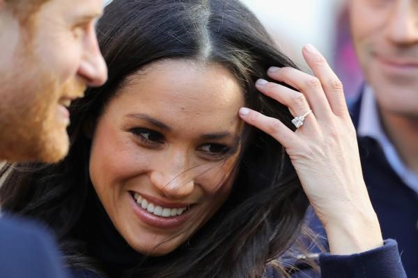 O anel de noivado da atriz Meghan Markle dado pelo Príncipe Harry (Foto: Getty Images)