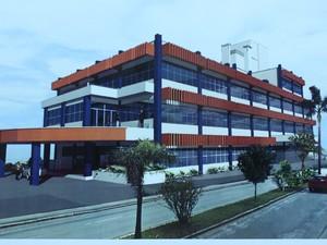 Modelo do prédio que vai abrigar o Centro de Monitoramento e Alerta (Foto: Defesa Civil/Divulgação)