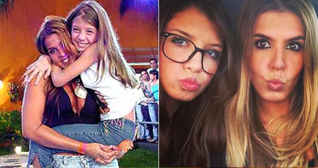 Marcela Queiroz e sua filha Bruna (Foto: Reprodução/ Facebook)