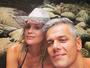 Flávia Alessandra posa com Otaviano Costa em cachoeira: 'Só a agradecer'