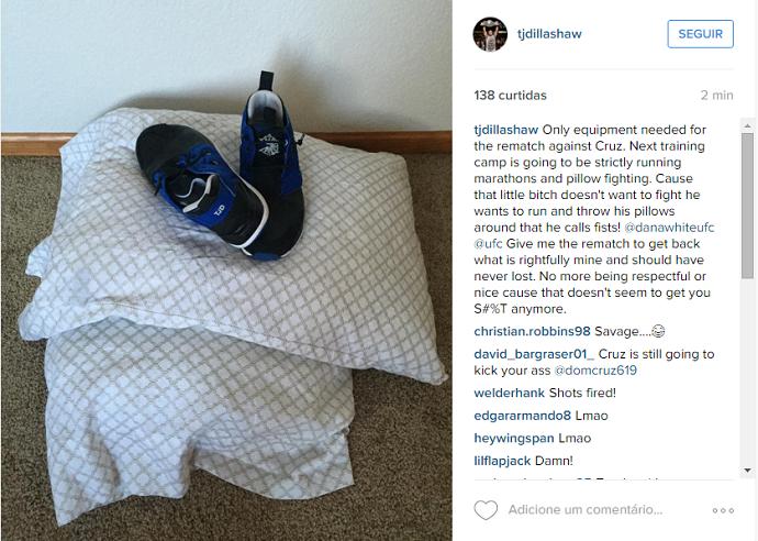 """BLOG: Desesperado por revanche, TJ Dillashaw detona Dominick Cruz: """"Quer correr"""""""