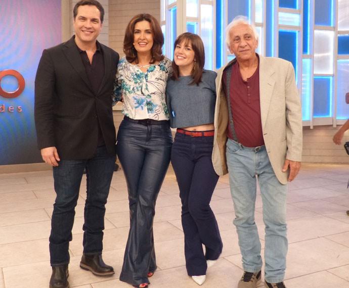 Fátima e o elenco de 'Tapas & Beijos' (Foto: Viviane Figueiredo Neto/Gshow)